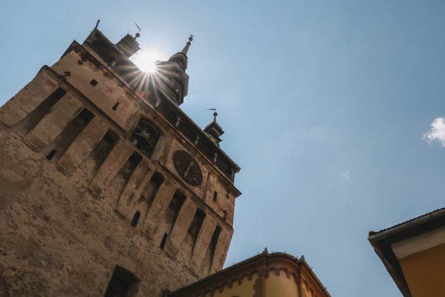 Turm Sighisoara Rumaenien Urlaub