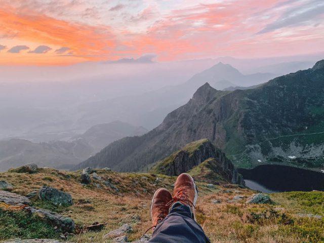 Urlaub in Tirol Wandern Wildseeloder Haus Sonnenaufgang
