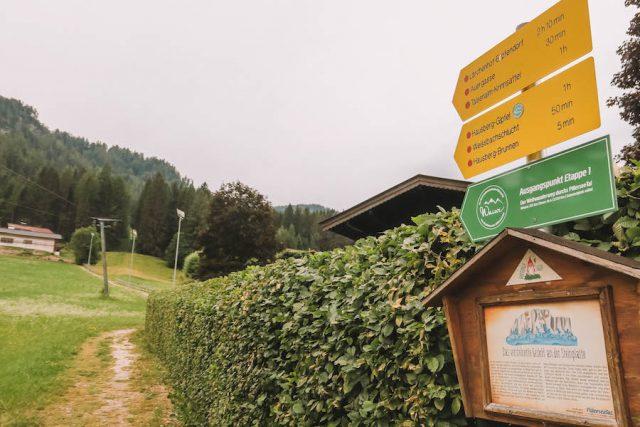 Waiwi Weitwanderweg Pillerseetal Startpunkt