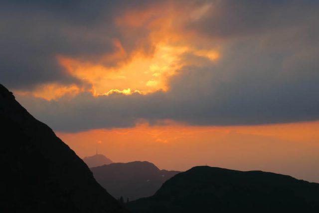 Wildseeloder Sonnenuntergang