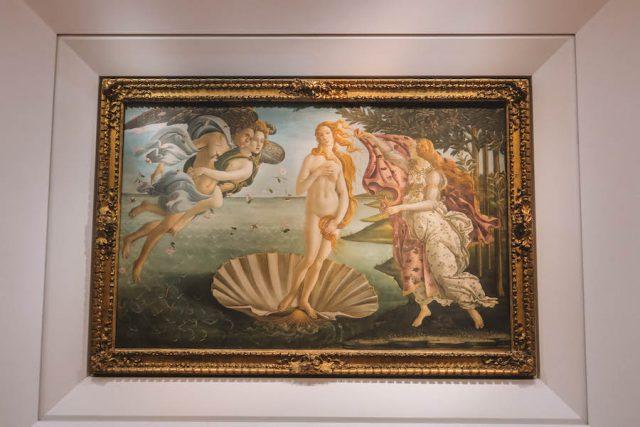 Florenz Sehenswuerdigkeiten Uffizien Botticelli Venus