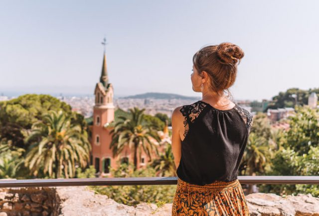 Mittelmeer Kreuzfahrt Barcelona Park Gueell