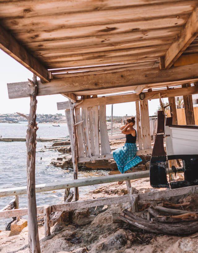 Mittelmeer Kreuzfahrt Formentera Es Pujols Bootshaus
