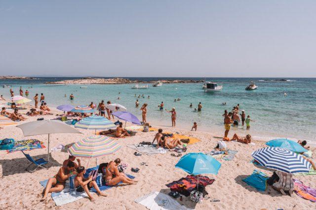 Mittelmeer Kreuzfahrt Formentera Es Pujols Strand