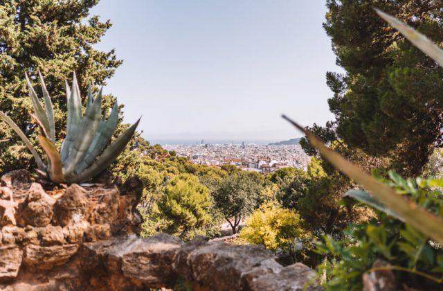 Park Guell Blick auf Barcelona