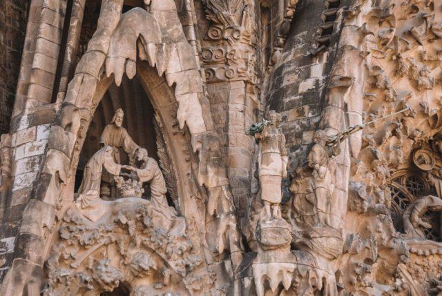 Sagrada Familia Barcelona Details Fassade