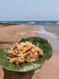 Jamaika Bootsausflug Lunch Krabbensalat
