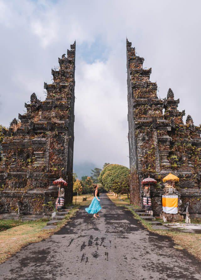 Bali Sehenswuerdigkeiten Munduk Handara Gate