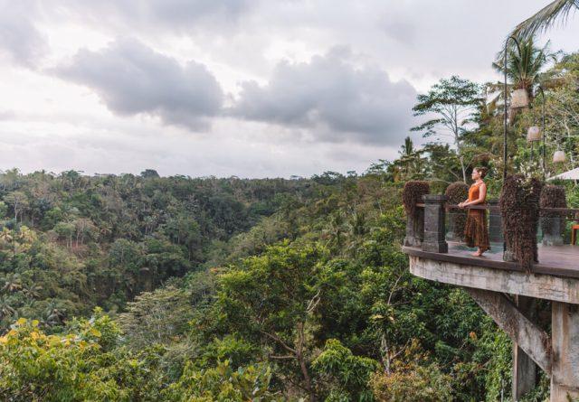 Bali Sehenswuerdigkeiten Ubud Aussicht Watu Kurung Hotel