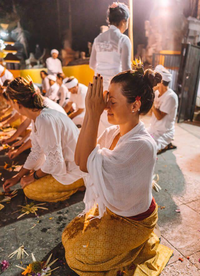 Bali Zeremonie Tempel