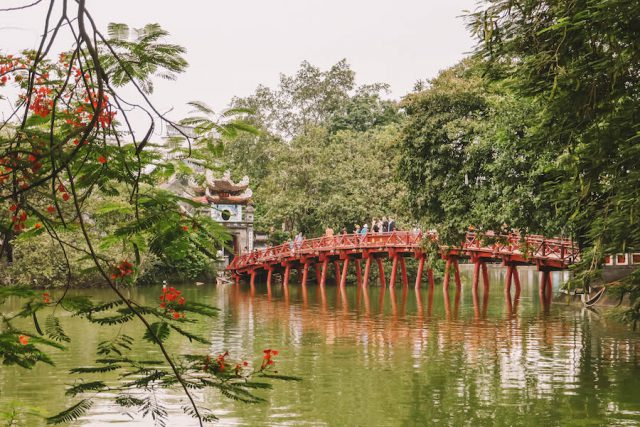 Hanoi Sehenswuerdigkeiten Hoan Kiem See