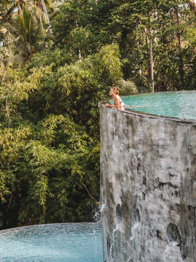 Hotel Ubud Bali Kayon Jungle Pool Aussicht