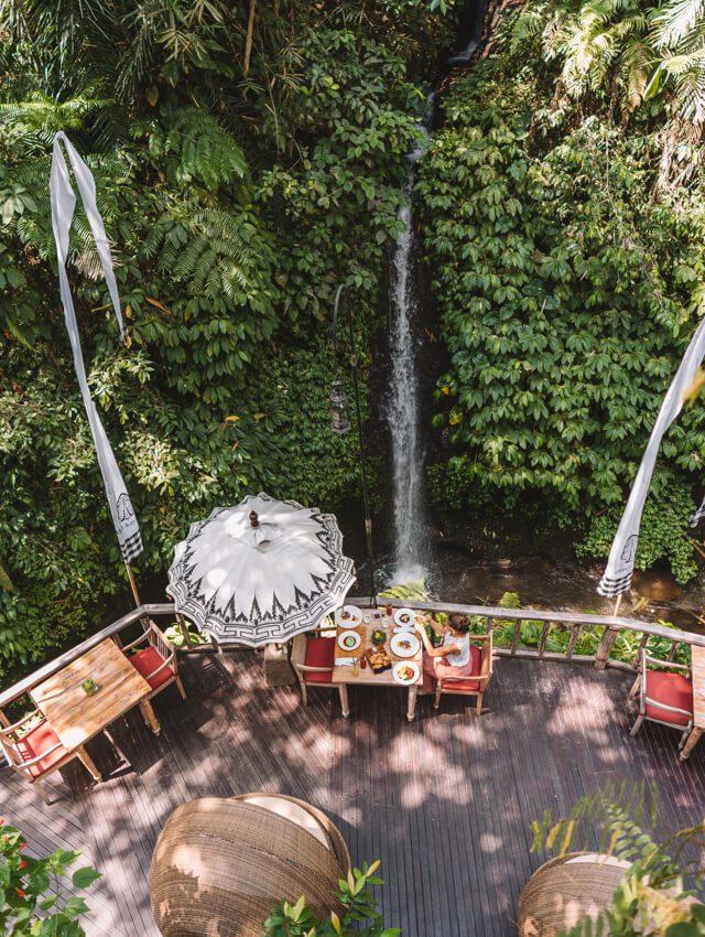 Kayon Hotel Wasserfall