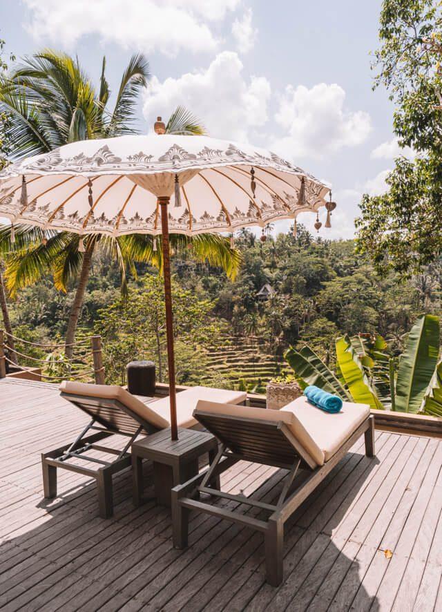 Ubud Bali Kayon Jungle Resort Liegen