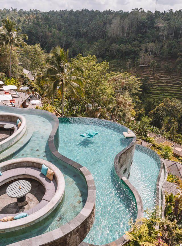 Ubud Bali Kayon Jungle Resort Pools