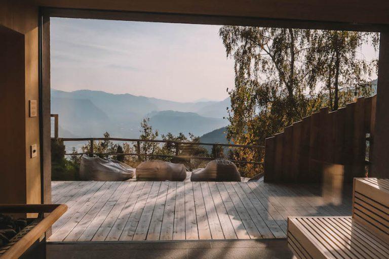 Hotel Belvedere Jenesien Sauna Panorama