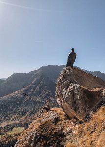 Wandern Dolomiten Christomannos Denkmal
