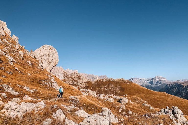 Wandern Dolomiten Hirzelsteig