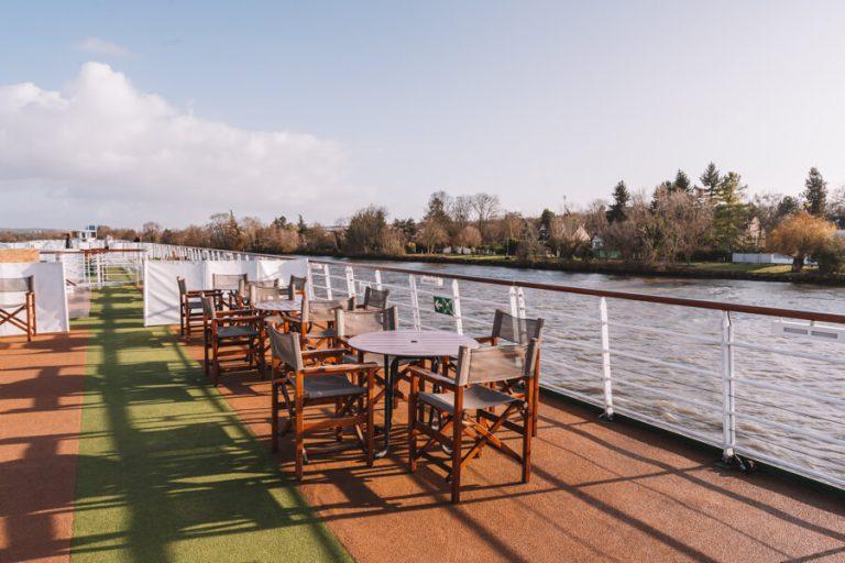 Arosa Flusskreuzfahrt Frankreich Oberdeck