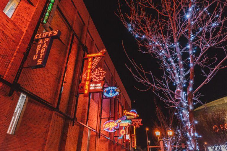 Edmonton Kanada Neon Sign Museum