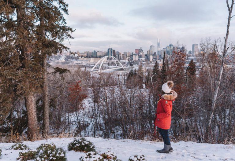 Edmonton Kanada River Valley Aussichtspunkt