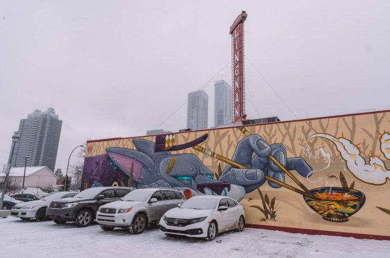 Edmonton Kanada Streetart Kunstwerk