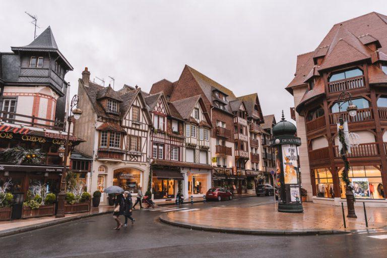 Frankreich Normandie Deauville Fachwerk