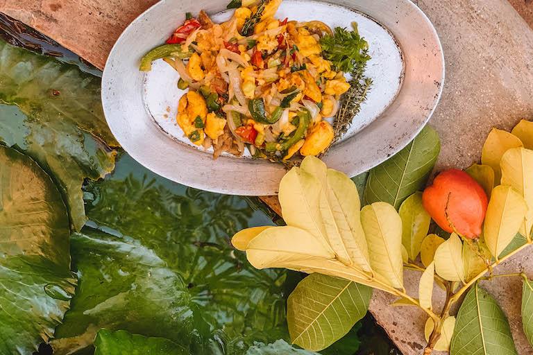 Karibische Kueche Ackee und Saltfisch Jamaika