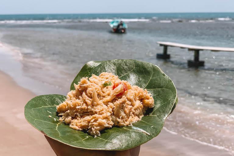 Karibische Kueche crab salad