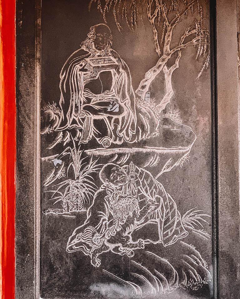 Longshand Tempel Zeichnung