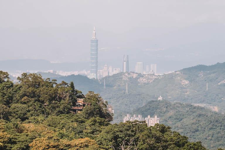 Maokong Taipeh Skyline