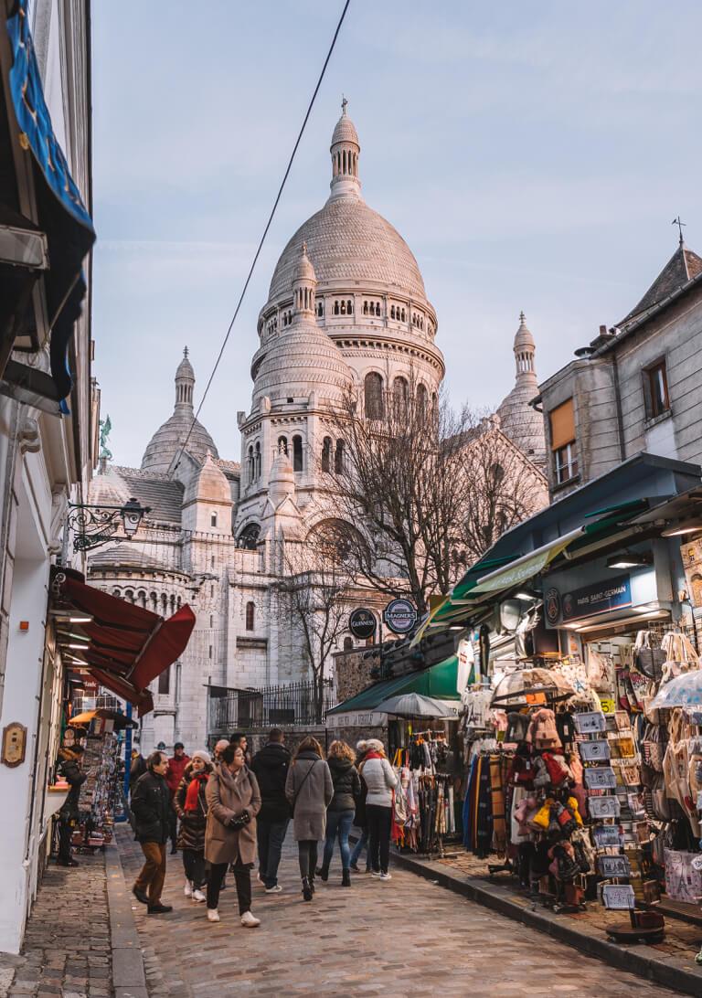 Paris Frankreich Sacre Coeur Montmartre