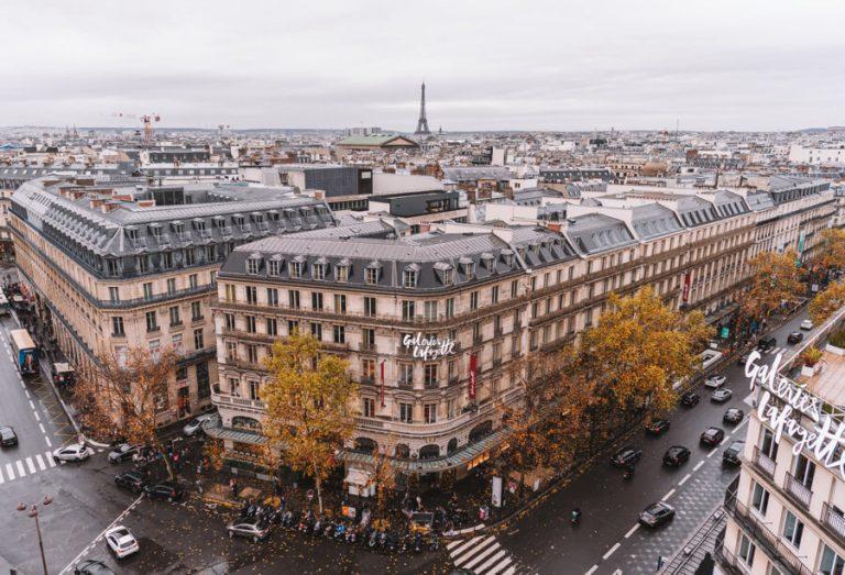 Sehenswuerdigkeiten Paris Galeries Lafayette Aussichtsterrasse