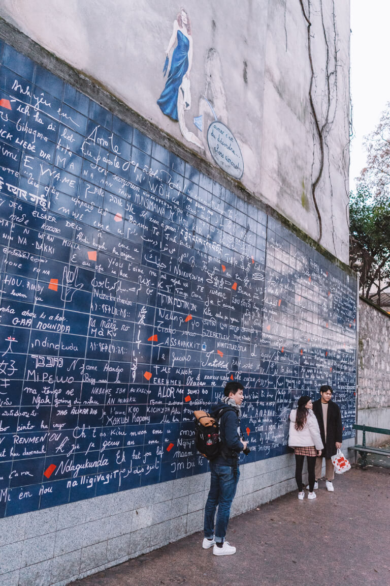 Sehenswuerdigkeiten Paris Liebeswand Montmartre