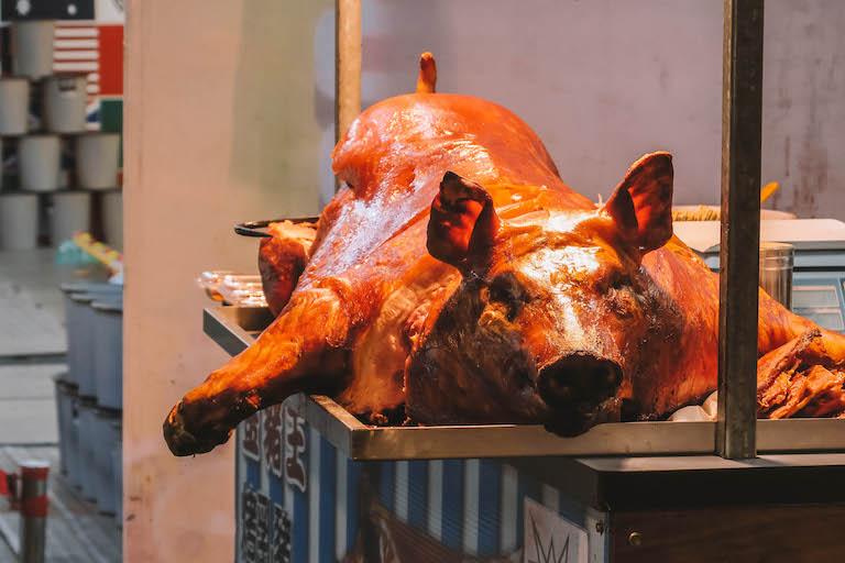 Shilin Night Market Schwein
