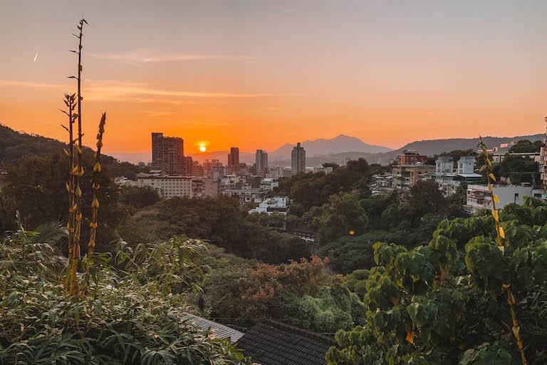 Sonnenuntergang Taipeh