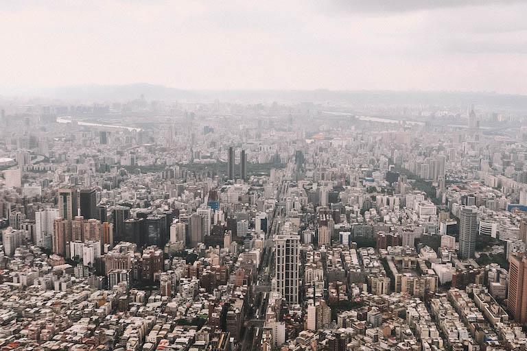 Taipeh Sehenswuerdigkeiten 101 Tower Aussicht