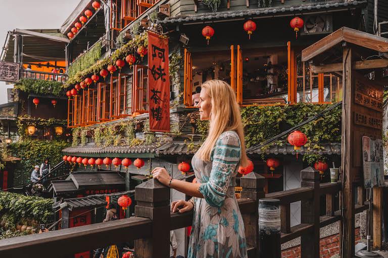 Taipeh Sehenswuerdigkeiten Jiufen Teehaus