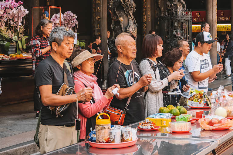 Taipeh Sehenswuerdigkeiten Longshan Temple