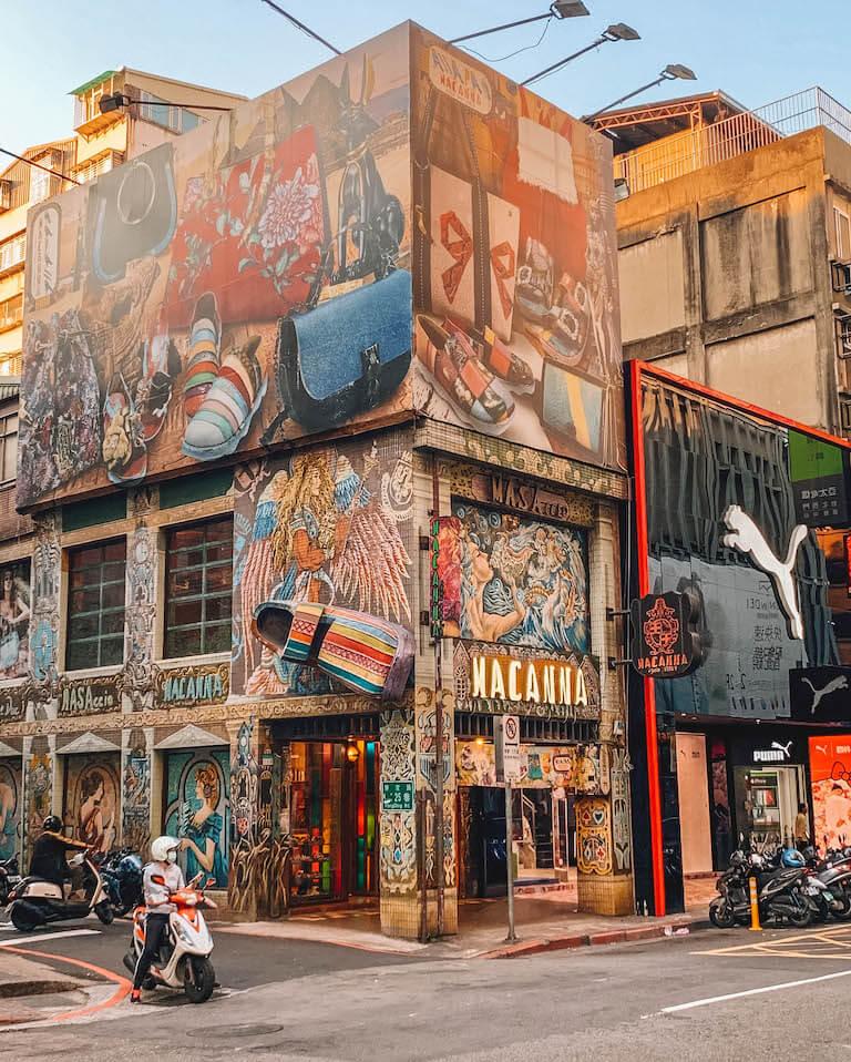 Taipeh Sehenswuerdigkeiten Streetart