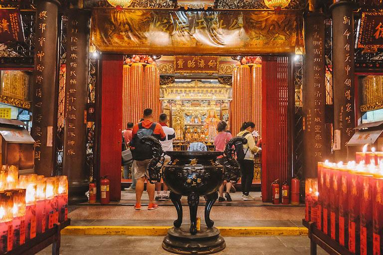 Taipeh Sehenswuerdigkeiten Ximending Tempel