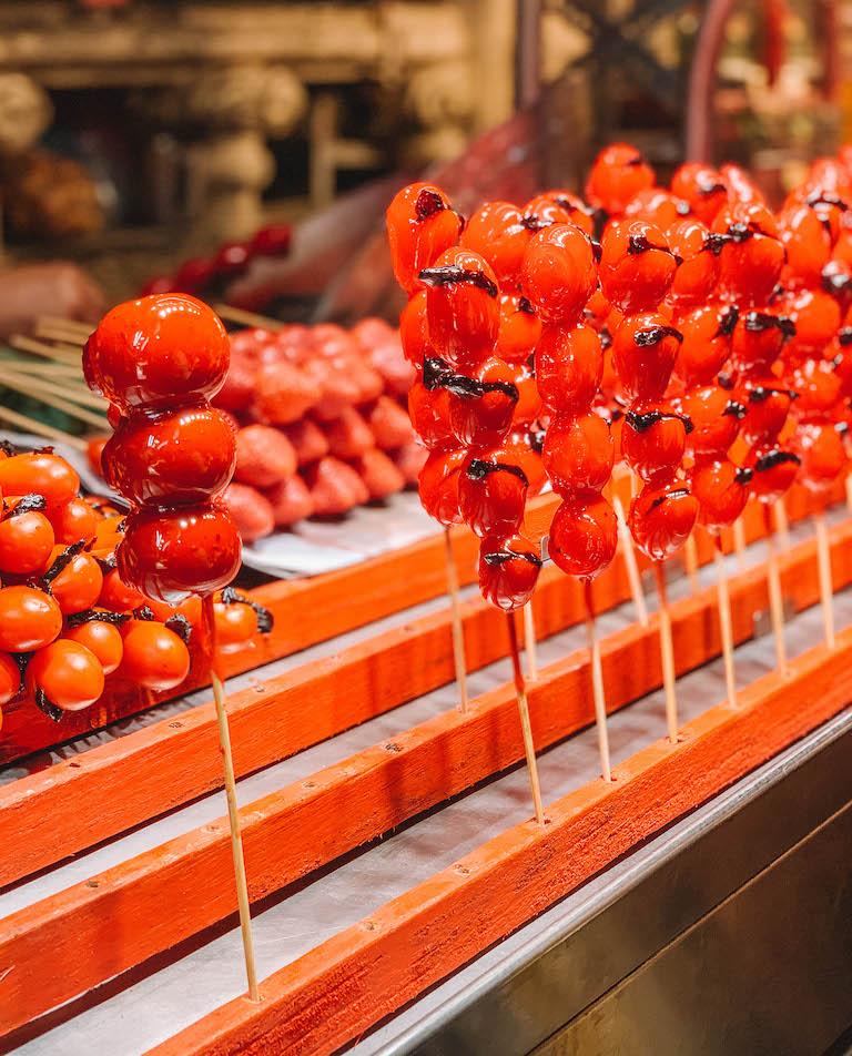 kandierte Tomate Streetfood Taiwan