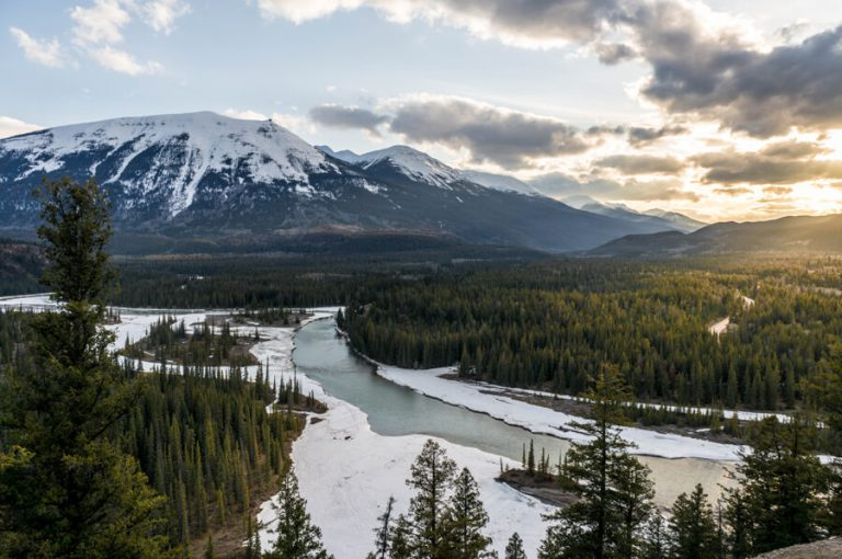 Jasper National Park Winter Athabasca River