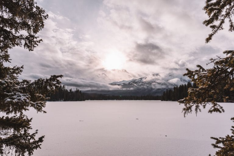 Jasper National Park Winter Lac Beauvert