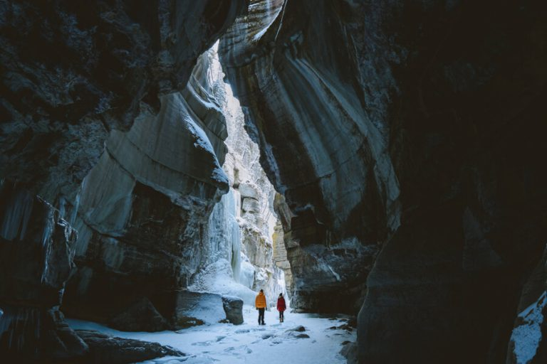 Jasper National Park Winter Maligne Canyon