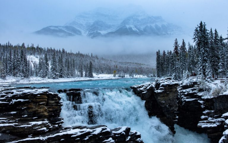 Jasper Nationalpark Winter Athabasca Falls