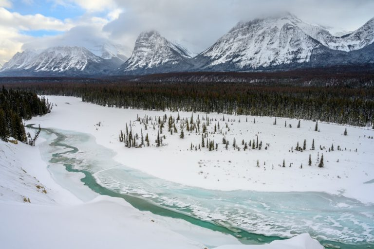 Jasper Nationalpark Winter Athabasca River