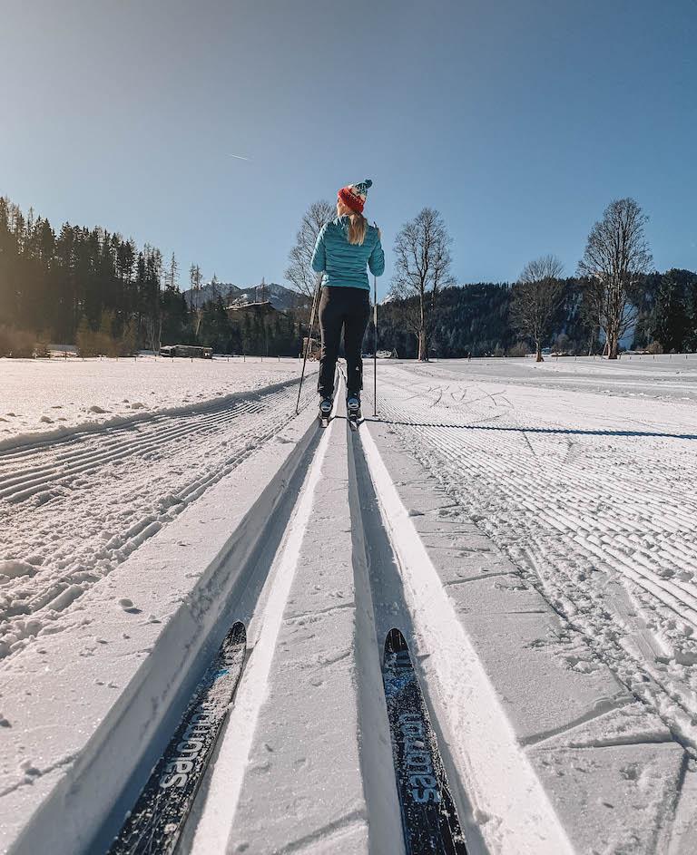 Langlaufen Oesterreich Ramsau am Dachstein Loipe Klassisch