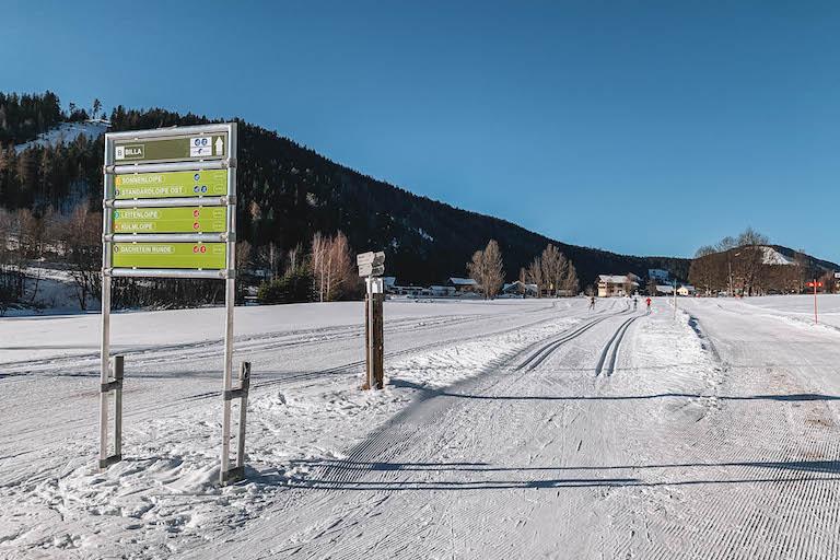 Langlaufen Osterreich Ramsau am Dachstein Loipe