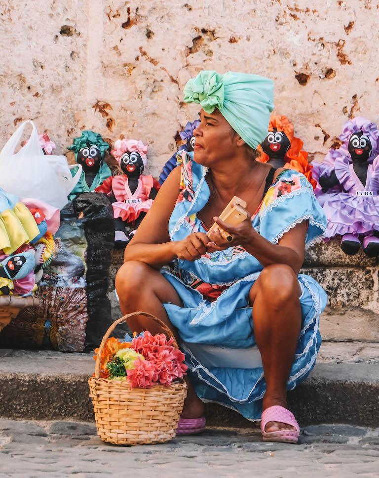 Havanna Kuba Verkaeuferin